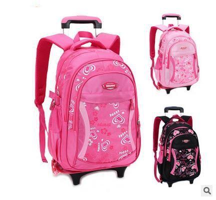 Brand Kids Children Travel Trolley Backpacks On wheels Trolley School bag Children luggage Trolley Rolling Bag School Backpacks  #Affiliate