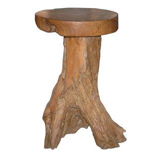 @Overstock.com - Natura Teakwood Barstool - Give your bar area an original  look