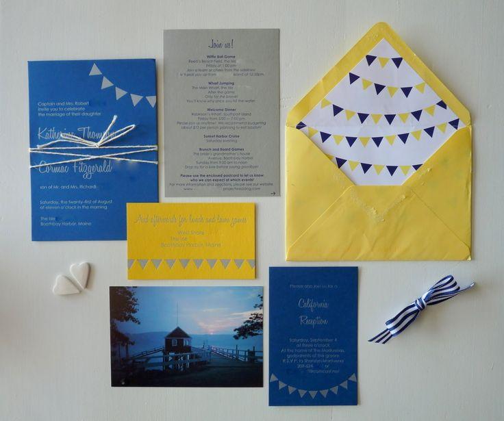 12 best Maine Wedding Invitations images on Pinterest Maine