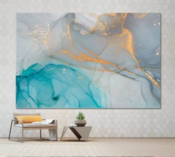 Canvas art Abstract Canvas Alcohol Ink Abstract Wall Art Marble Ink Marble print Contemporary Art Marbling Wall Decor Marble canvas