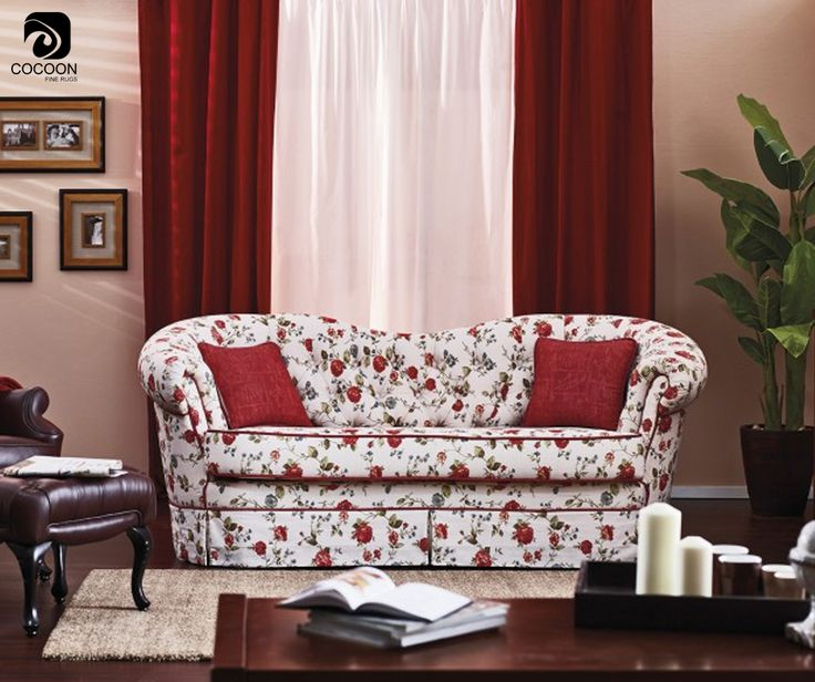 A floral-print sofa can bring energy and brilliance into a room's design scheme.