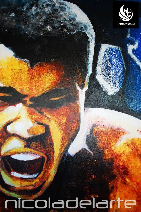 """Τοιχογραφία σε σχολή πολεμικών τεχνών κ' μαχητικών αθλημάτων """" Hermes club """" Νέα Σμύρνη - Αθήνα Mural at martial arts and fighting sports academy """" Hermes club """" Nea Smyrni - Athens Greece"""