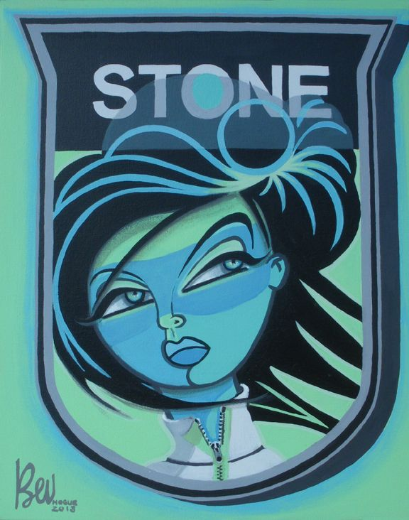 """Stone"" acrylic on 16"" x 20"" canvas available at bev@beluxe.com"