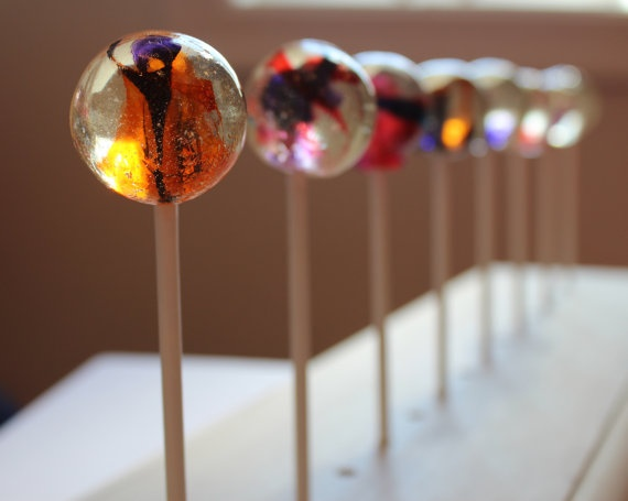 Going marbles lollipops from VintageConfections.