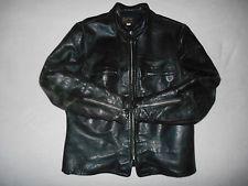 Vintage BUCO J-100 Cafe Racer Steer Hide Leather Biker Jacket RARE Size 48 XL