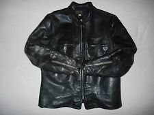 Vintage BUCO J-100 Cafe Racer Steer Hide Leather Biker Jacket RARE Size 48 XL