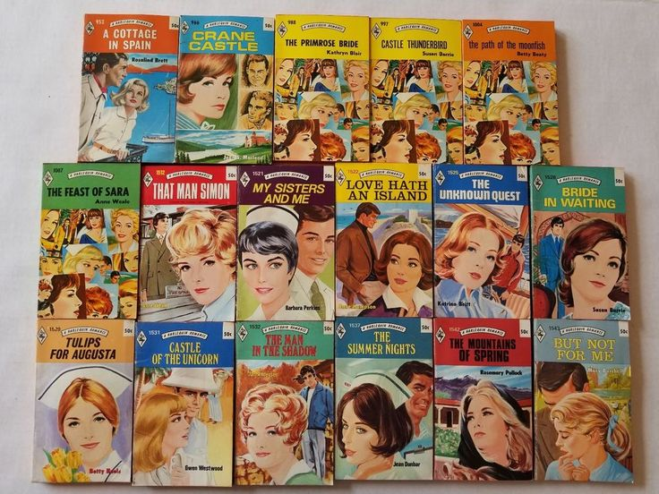 17 Vtg Harlequin Romance Novels Red Edge Paperbacks Many Authors 1970s