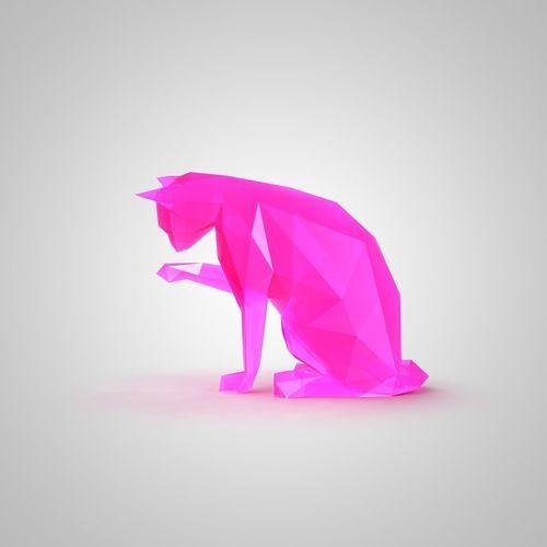 low poly cat 2   3D Print Model