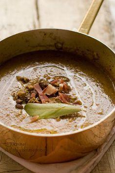 Zuppa di ceci e funghi piccantina
