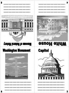 Free!! National landmark flashcards...link to free online book...Arthur Meets the President...sees the landmarks