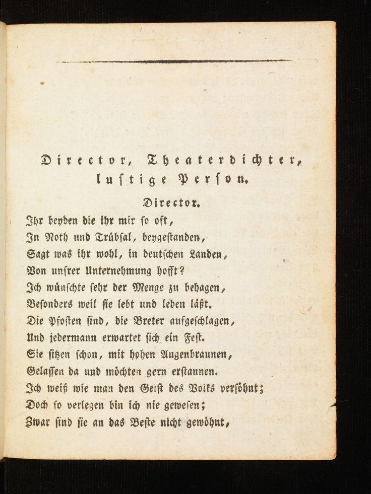 """1ère édition de la version du Faust canonique de Goethe :  """"Faust. Eine Tragödie"""" (Tübingen. J. G. Cotta'sche, 1808), à parcourir dans son intégralité pour les plus curieux sur le site du Bodmer Lab."""