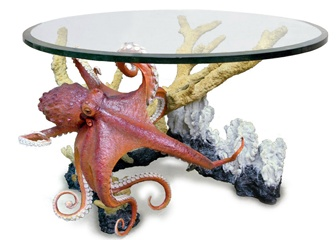 Wyland Art. Love this table! Also there is a smaller bronze of the octopus that I'd love to own