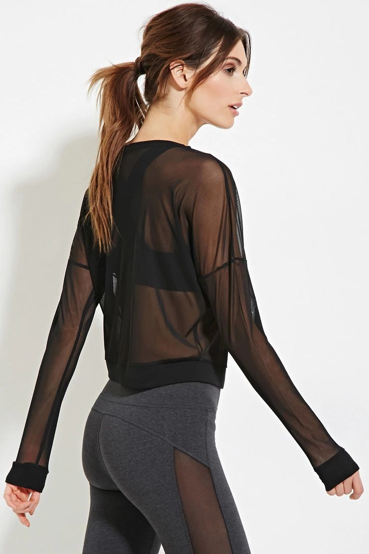 Active Sheer Mesh Top | Forever 21 #f21active
