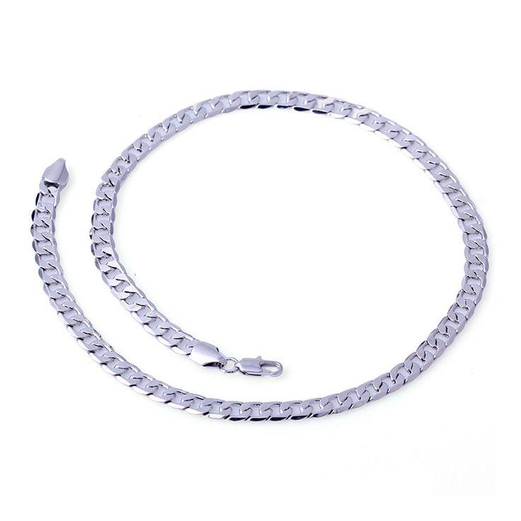 Galvanized High Emulational Women Men Necklace platinum palted 50cm