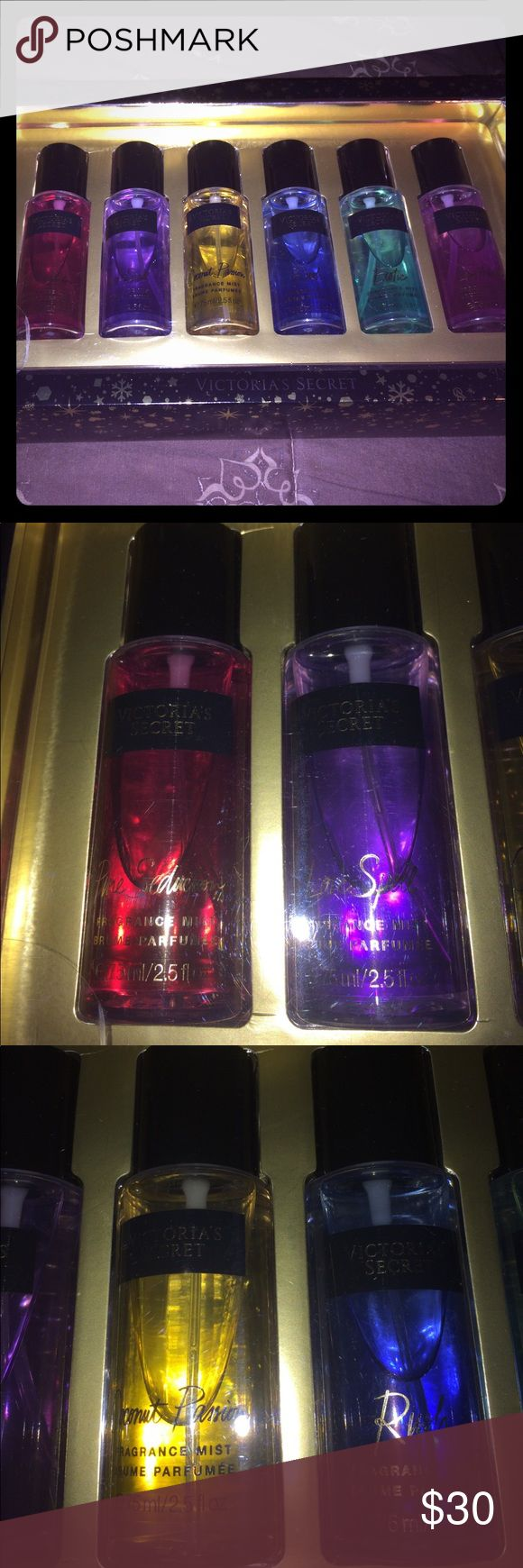 Brand New Victoria's Secret Perfume Set 6 Piece!! Brand New Women's Victoria Secret 6 Piece Perfume Set!! Set includes Pure Seduction, Love Spell, Coconut Passion, Rush, Exotic, Love Addiction!! All Brand New Never Been Used!! Victoria's Secret Other