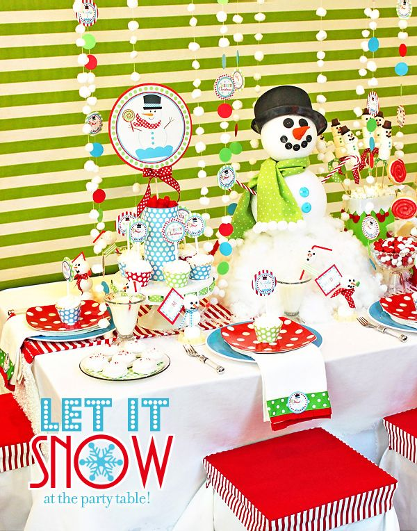 Christmas birthday party - VERY cute party with lots of ideas.