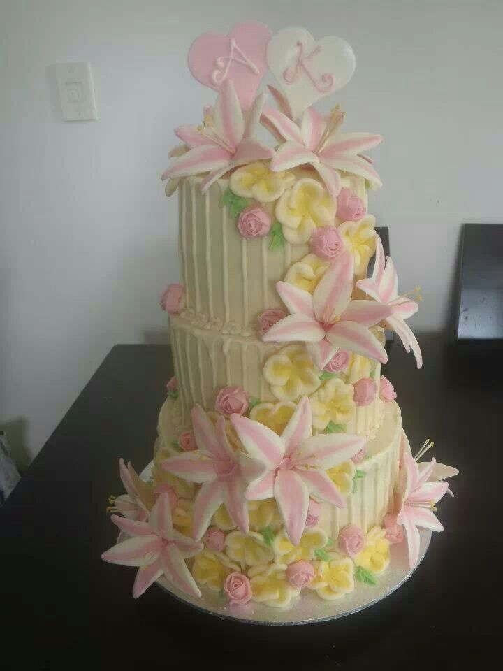 My sister's very first wedding cake