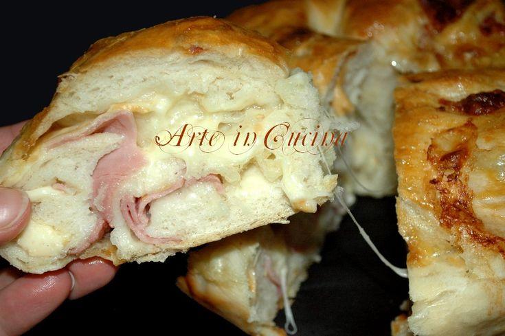 Pane intrecciato ripieno facile e veloce