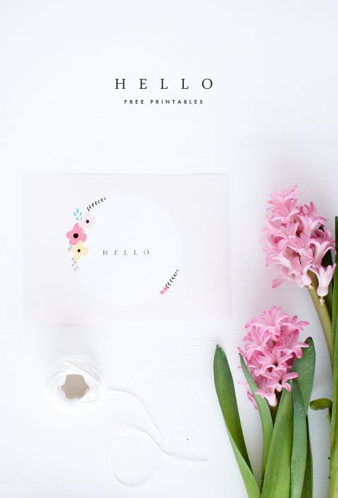 "Free Printable! Adorable ""hello"" note from Oh So Pretty"