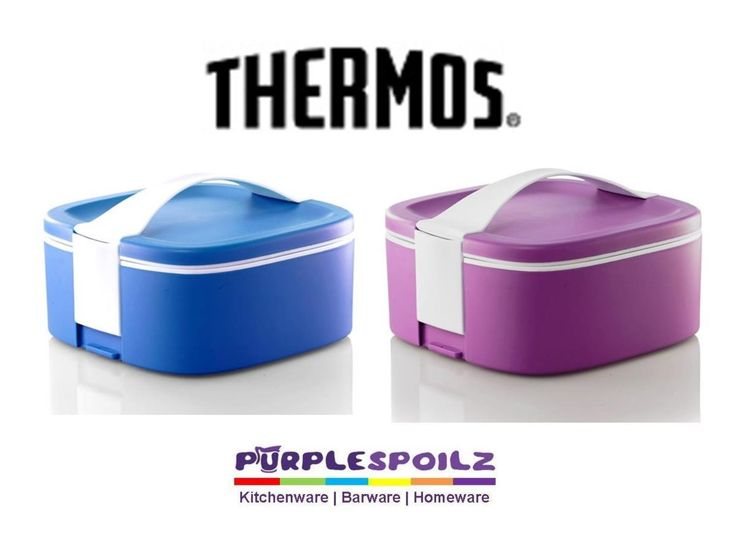 NEW THERMOS ALFI THERMAL FOOD CARRIER 2L Insulated Stackable Lunchbox FUCHSIA BLUE