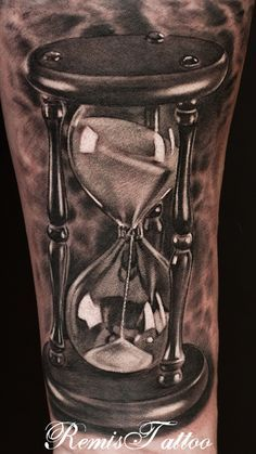 hourglass tattoo black and grey by ~Remistattoo DeviantArt