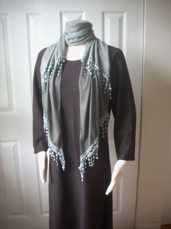 Free shipping cotton wool hand made scarf by TheAnatolianstyle