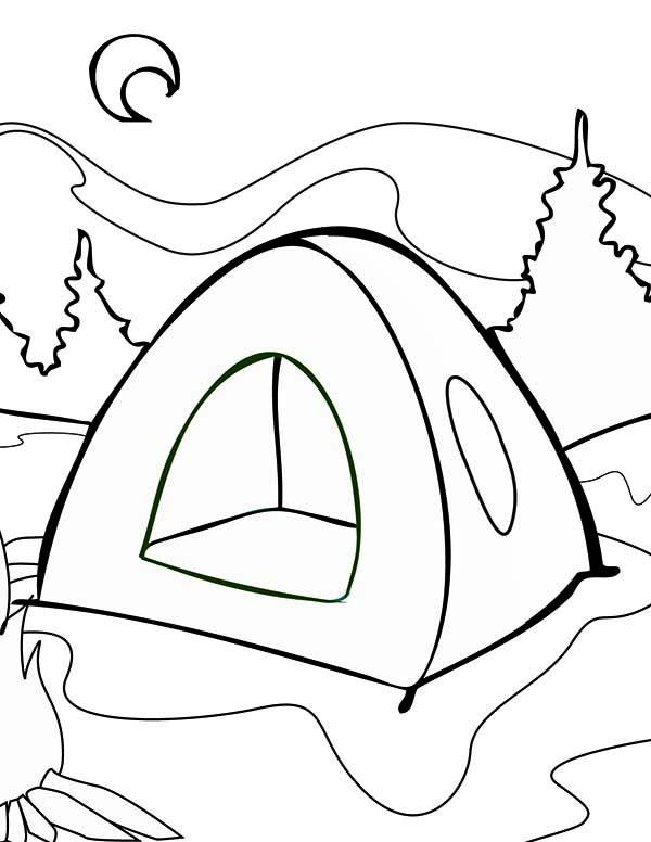 Summer Camp Summer Tent On Summer Camp Coloring Page Summer Coloring Pages Camping Coloring Pages Coloring Pages