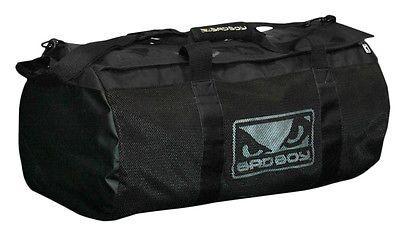 Bad Boy MMA Sports Training Mesh Duffel Gym Bag - Black