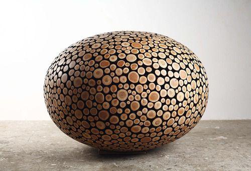Wood sculptures from Jaehyo Lee