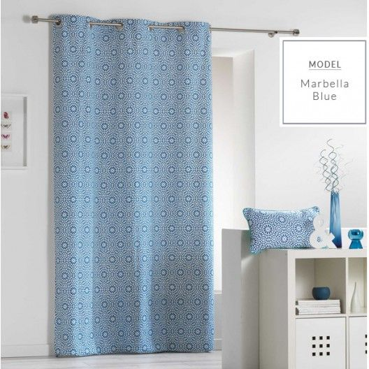 Dekoracni zavesy ve skandinavskem stylu modre barvy