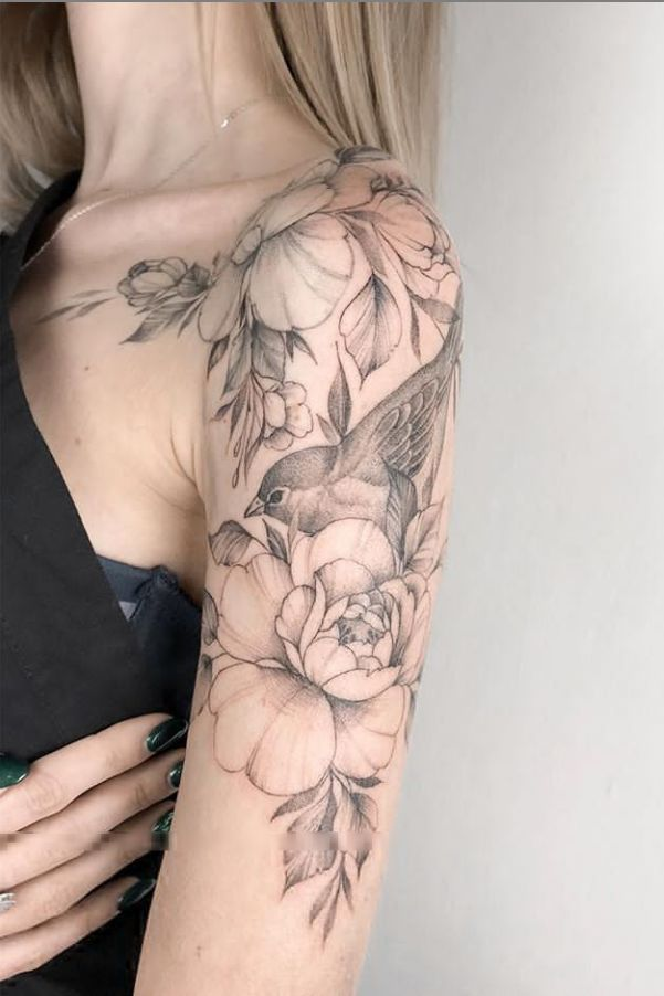 20 Unique Flower Sleeve Tattoo Design Ideas for Women Who Look Great! – #design #unique #flower #women # ideas