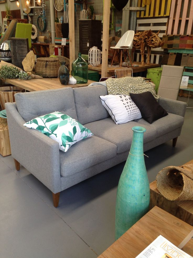 Super comfy lounge shown in store at Easterly. Can choose from hundreds of fabrics.