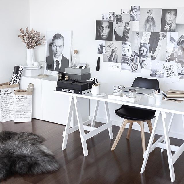 Home office. Scandinavian inspired workspace. Styling and photography by Justine Ash
