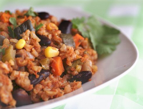 Seven Grain Dirty Rice and Beans (from Dean Ornish): a vegan, gluten-free, oil-free dinner that's delicious and easy!