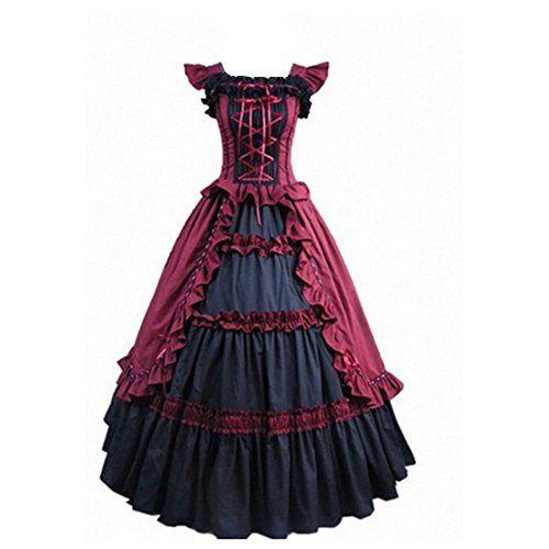 3 Farben Kurzarm Ruffles Abendkleid Aufwändige Kostüme gotische Lolita Kleid (X-Small, Weinrot) Fashion Season http://www.amazon.de/dp/B00EE27L2U/ref=cm_sw_r_pi_dp_ceIWub0HFE35S