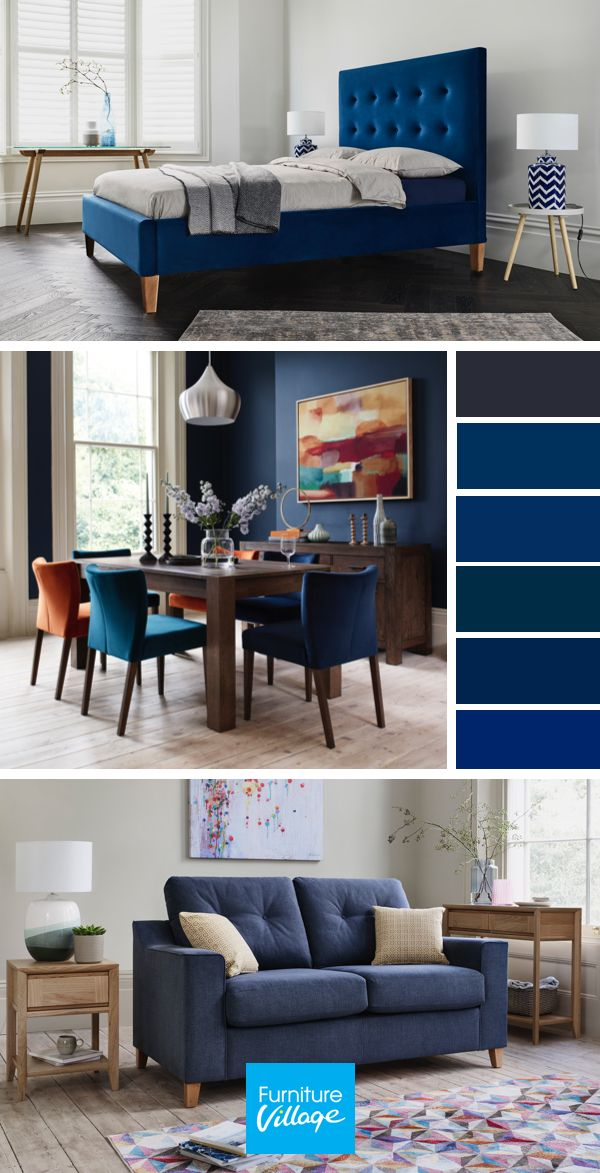 Some Say Navy Is The New Black Bring Your Living Room Inspo To Life With Our Selection Of Dining Room Colour Schemes Dining Room Colors Blue Couch Living Room