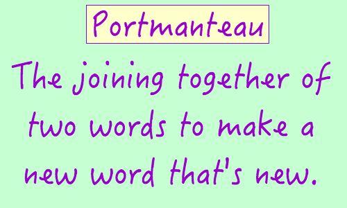 Image result for Portmanteau definition
