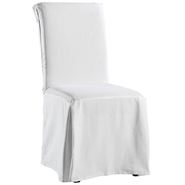 Sure Fit Twill Supreme Long Dining Room Chair Slipcover