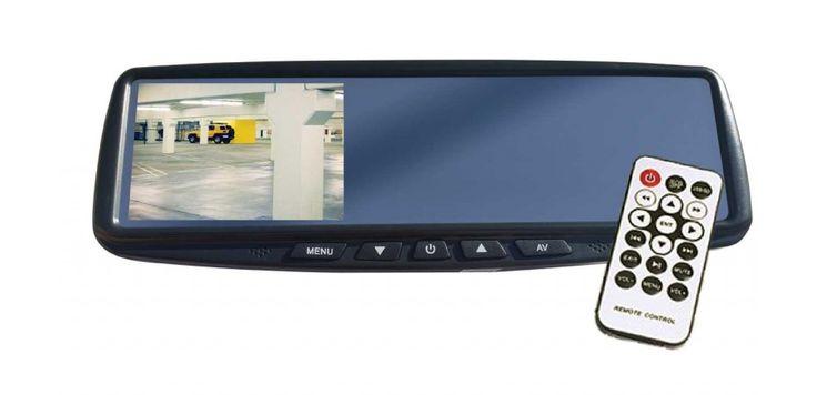 SUPPORT DE PLAQUE AVEC CAMERA INTEGREE NTSC +MONITEUR 4.3'' LCD SUR RETROVISEUR POUR CAMERA DE RECUL MIROIR CLAIR