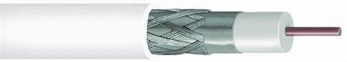 CommScope RG-6 Shielded Coaxial Cable, 60% Plenum, White, 2275V-WHT
