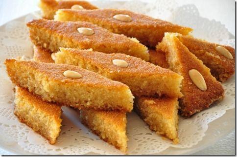 table sweet semolina cake with lemon rose water sweet semolina cake ...