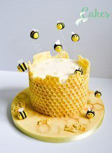 honey bee cake tutorial