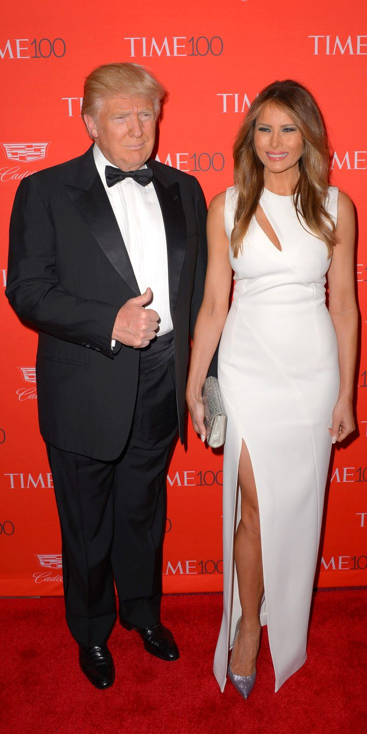 See All the Stars on the 2016 Time 100 Gala Red Carpet - Donald and Melania Trump - from InStyle.com