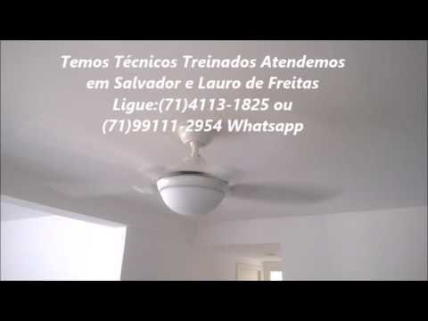 Ventilador de Teto Instalado com Perfeição Atendemos em Salvador-BA