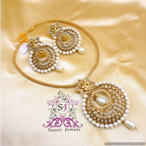 Antique Pearl Temple Jewellery