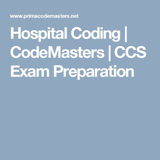 Hospital Coding | CodeMasters | CCS Exam Preparation