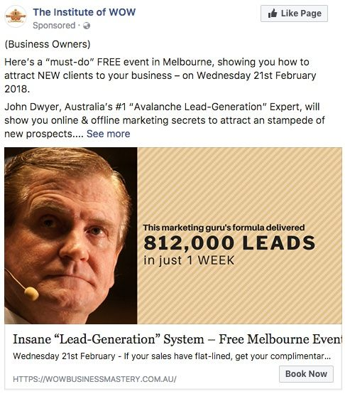Facebook Ad for Insane Lead Generation System
