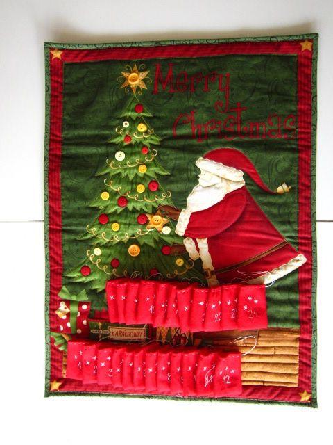 """Adventi naptár  """" Karácsonyi kívánságok"""" zsebbel, Karácsonyi, adventi apróságok, Adventi naptár, Meska"""