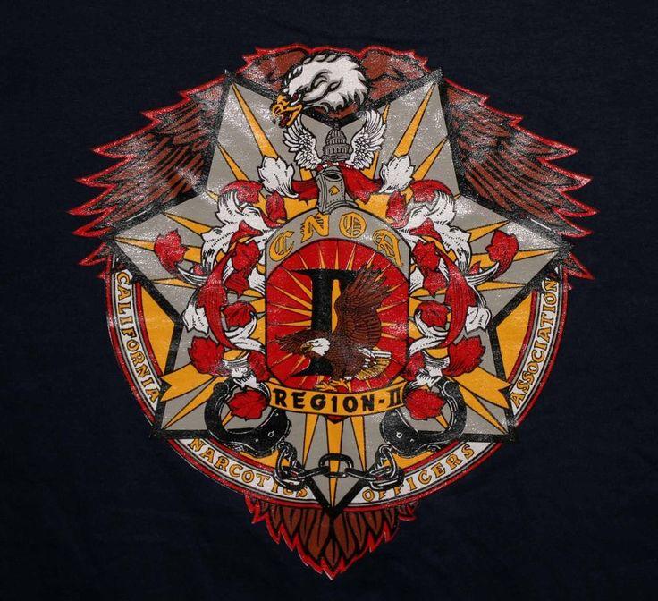 CNOA California Narcotics Officers Association T-Shirt Adult Size Large - Rare