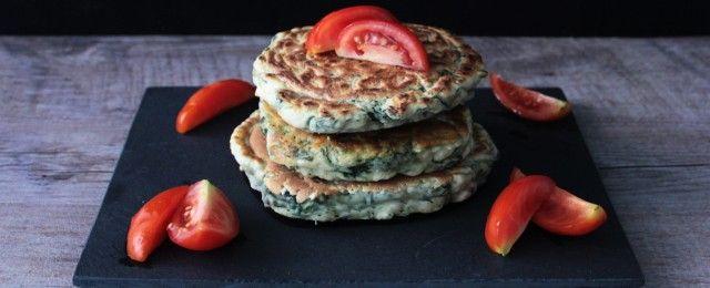 Pancake agli spinaci vegani